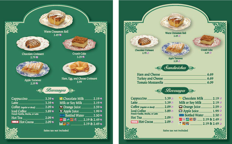 Main Street Cafe Breakfast Menu